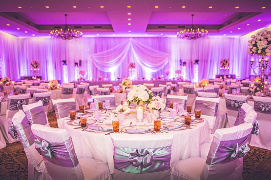 Wedding chair covers with ruffles